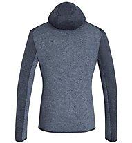 Salewa Rocca 2 Pl Hoody - giacca in pile con cappuccio - uomo, Dark Blue/Light Blue