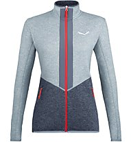 Salewa Rocca 2 Pl - Fleecejacke Trekking - Damen, Grey/Dark Blue/Red
