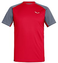 Salewa Sporty B 3 Dry - T-shirt trekking - uomo, Red/Grey