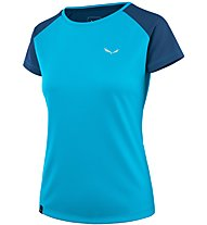 Salewa Sporty B 3 Dry - T-shirt trekking - donna, Light Blue