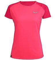 Salewa Sporty B 3 Dry - T-shirt trekking - donna, Pink/Dark Pink