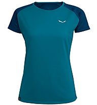 Salewa Sporty B 3 Dry - T-shirt trekking - donna, Blue/Dark Blue
