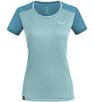 Salewa *Sporty B 4 Dry M S/S - T-shirt trekking - donna, Light Blue