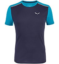 Salewa *Sporty B 4 Dry - T-shirt trekking - uomo, Dark Blue/Light Blue