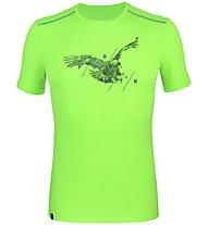Salewa *Sporty Graphic Dry M S/S - T-shirt trekking - uomo, Green