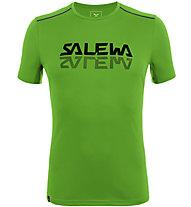Salewa *Sporty Graphic Dry M S/S - Herren-Trekking-T-Shirt, Green/Black