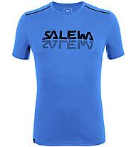 Salewa *Sporty Graphic Dry M S/S - Herren-Trekking-T-Shirt, Light Blue/Black