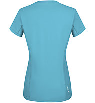 Salewa *Sporty Graphic Dry W S/S - Damen-Trekking-T-Shirt, Light Blue