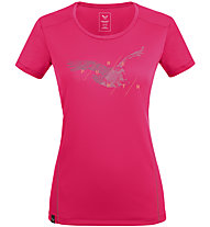 Salewa *Sporty Graphic Dry W S/S - Damen-Trekking-T-Shirt, Pink