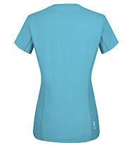 Salewa *Sporty Graphic Dry W S/S - Damen-Trekking-T-Shirt, Light Blue/White