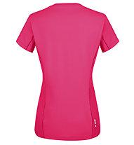 Salewa *Sporty Graphic Dry W S/S - Damen-Trekking-T-Shirt, Pink/White
