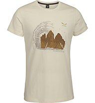 Salewa Abram - T-Shirt Wandern - Herren, Beige