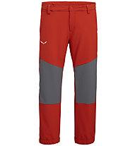 Salewa Agner 3 DST K - pantaloni lunghi trekking - bambino, Red/Grey