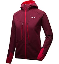 Salewa Agner Engineered - Bergsportjacke mit Kapuze - Damen, Dark Red