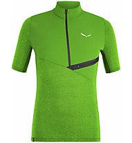 Salewa Agner Hyb Dry M Zip - T-Shirt mit Reißverschluss - Herren, Green