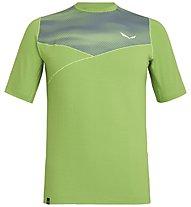 Salewa Agner Hybrid Dry - t-shirt a manica corta - uomo, Green