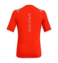 Salewa Agner Hybrid Dry - t-shirt a manica corta - uomo, Red