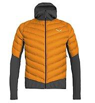 Salewa Agner Hybrid Dwn - giacca piumino - uomo, Orange/Black