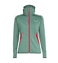 Salewa Agner Hybrid PL/DST - giacca in pile con cappuccio - donna, Green