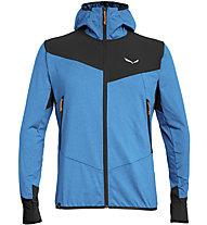 Salewa Agner Hybrid Pl/Dst - giacca softshell - uomo, Light Blue/Black/Orange