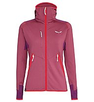 Salewa Agner Hybrid PL/DST - Fleecejacke mit Kapuze - Damen, Light Red