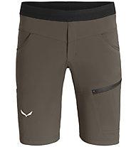 Salewa Agner Light DST - pantaloni corti arrampicata - uomo, Brown/Black