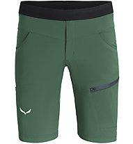 Salewa Agner Light DST - pantaloni corti arrampicata - uomo, Green/Black