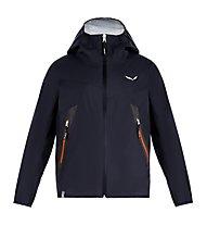 Salewa Agner PTX 2,5L K Jkt - giacca hardshell con cappuccio - bambino, Blue