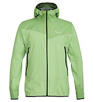 Salewa Agner Ptx 3L - giacca softshell con cappuccio - uomo, Light Green