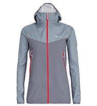 Salewa Agner PTX 3L - giacca hardshell con cappuccio - donna, Light Grey