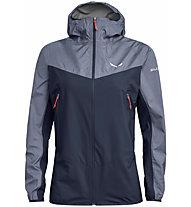 Salewa Agner PTX 3L - giacca hardshell con cappuccio - donna, Dark Blue/Blue/Red