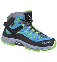 Salewa Alp Trainer Mid GORE-TEX - Wander- und Trekkingschuh - Kinder, Blue/Fluo