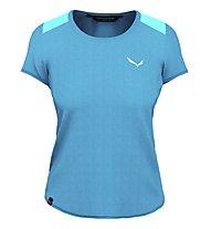 Salewa Alpine Hemp Graphic W S/S - T-shirt - Damen, Light Blue