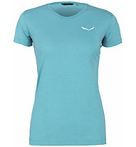 Salewa Alpine Hemp Logo - Shirt - Damen, Light Blue