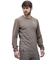 Salewa Alpine Hemp Print M - sweatshirt - uomo, Brown
