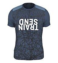 Salewa Alpine Hemp Print M S/S - T-shirt - uomo, Navy/Black