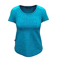 Salewa W Alpine Hemp Print S/S - T-shirt - Damen, Light Blue