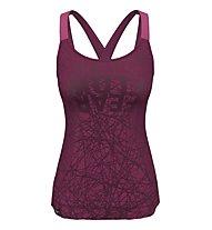 Salewa Alpine Hemp Print W - top arrampicata - donna, Purple/Pink