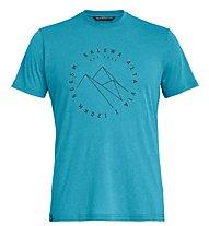 Salewa Alta Via Dri-Rel - T-Shirt Trekking - Herren, Light Blue/Black