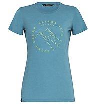 Salewa Alta Via Dri-Rel - T-Shirt Trekking - Damen, Blue