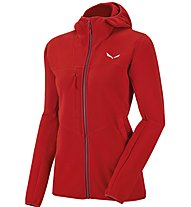 Salewa Antelao Ptc - Fleecejacke mit Kapuze - Damen, Red