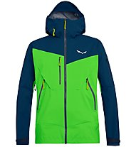 Salewa Antelao PTX 3L - giacca hardshell alpinismo - uomo, Dark Blue/Green