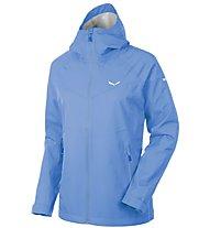Salewa Aqua 3.0 - giacca hardshell trekking - donna, Light Blue