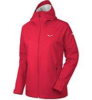 Salewa Aqua 3.0 - giacca hardshell trekking - donna, Dark Red