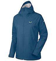 Salewa Aqua 3.0 - giacca hardshell trekking - donna, Dark Blue