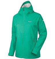 Salewa Aqua 3.0 - giacca hardshell trekking - donna, Dark Green