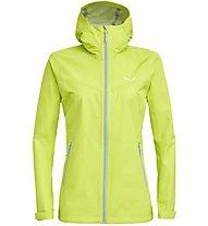 Salewa Aqua 3.0 - giacca hardshell trekking - donna, Light Yellow
