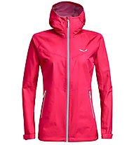 Salewa Aqua 3.0 - giacca hardshell trekking - donna, Pink