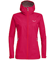 Salewa Aqua 3.0 Powertex - Wander - und Trekkingjacke - Damen, Dark Pink/Red