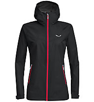 Salewa Aqua 3.0 Powertex - Wander - und Trekkingjacke - Damen, Black/Red